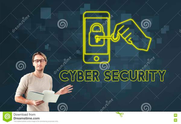 Cyber Security Concept. Royalty-free Stock