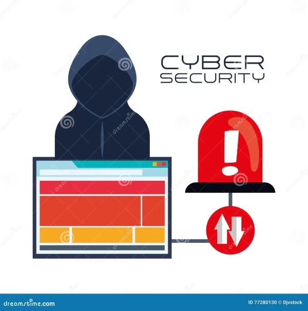 Cyber Security Design Vector Illustration Cartoondealer