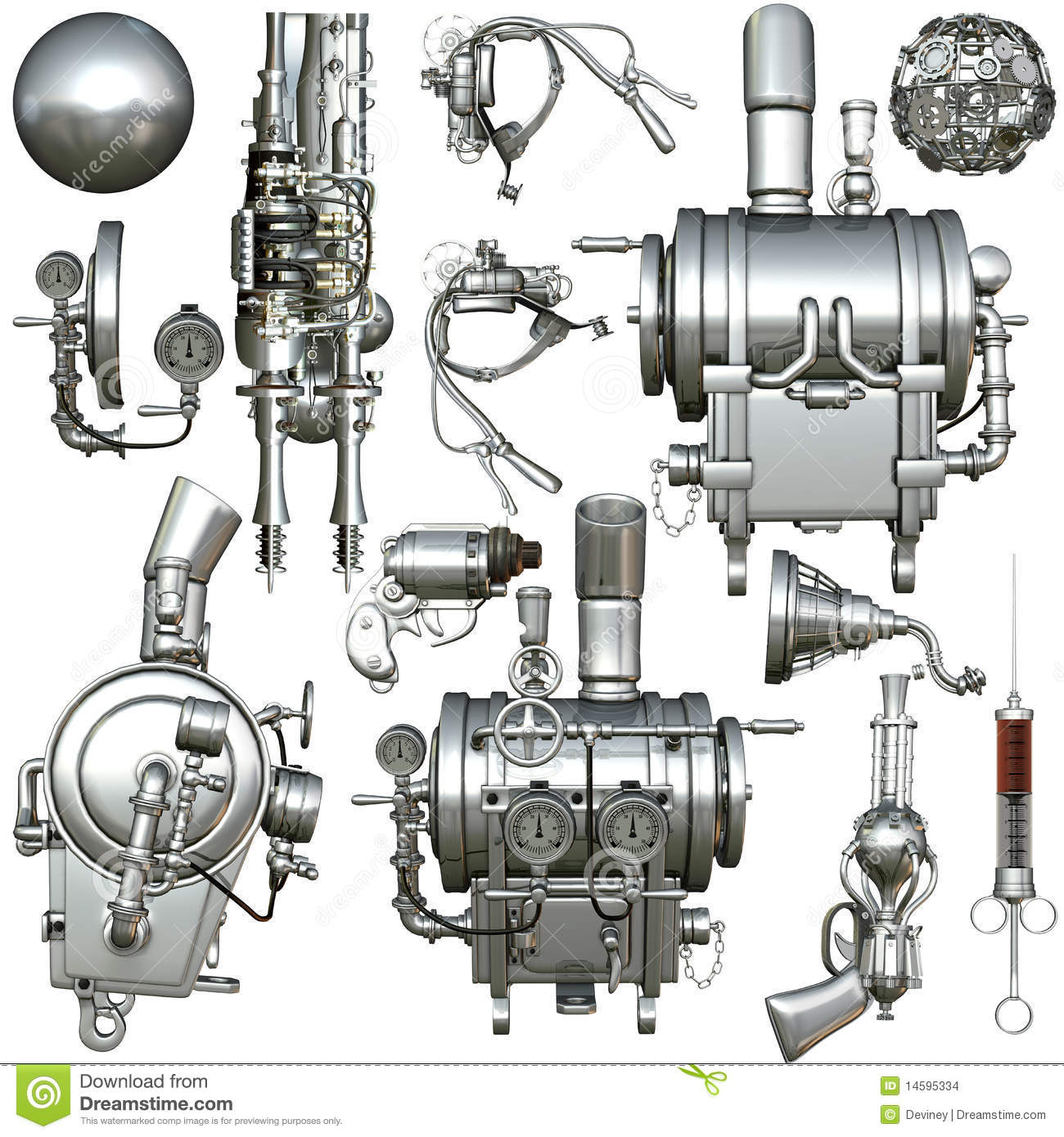 Cyborg Parts Stock Images