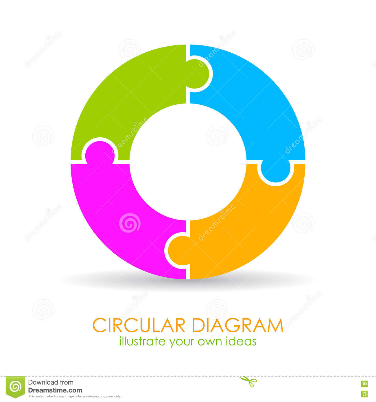 hight resolution of 4 parts cycle diagram template vector illustration