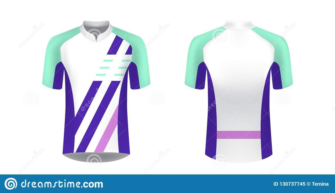 Download Cycling jersey mockup stock vector. Illustration of modern ...