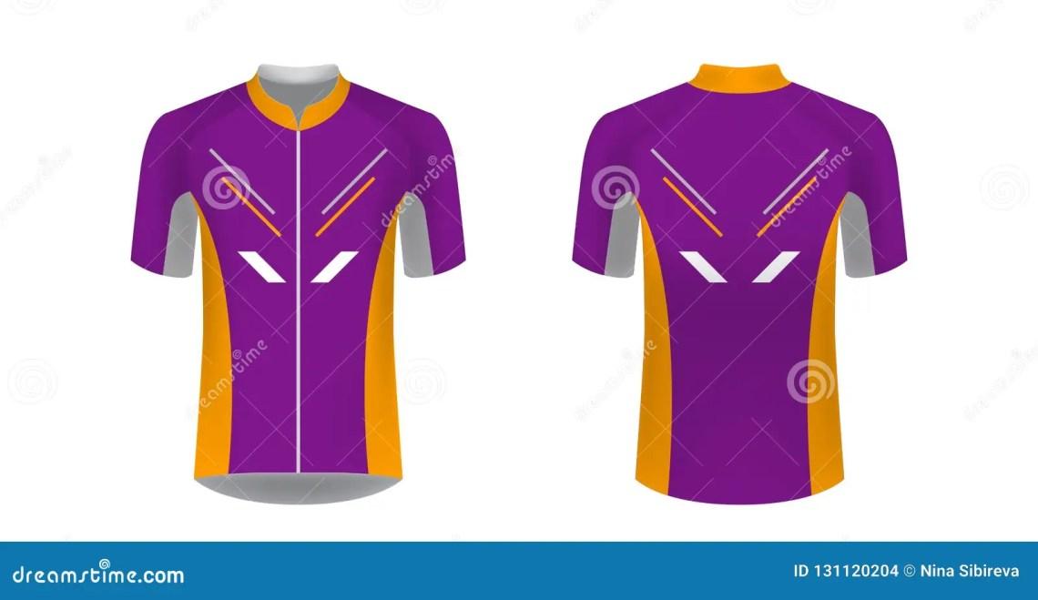 Download Cycling jersey mockup stock illustration. Illustration of ...