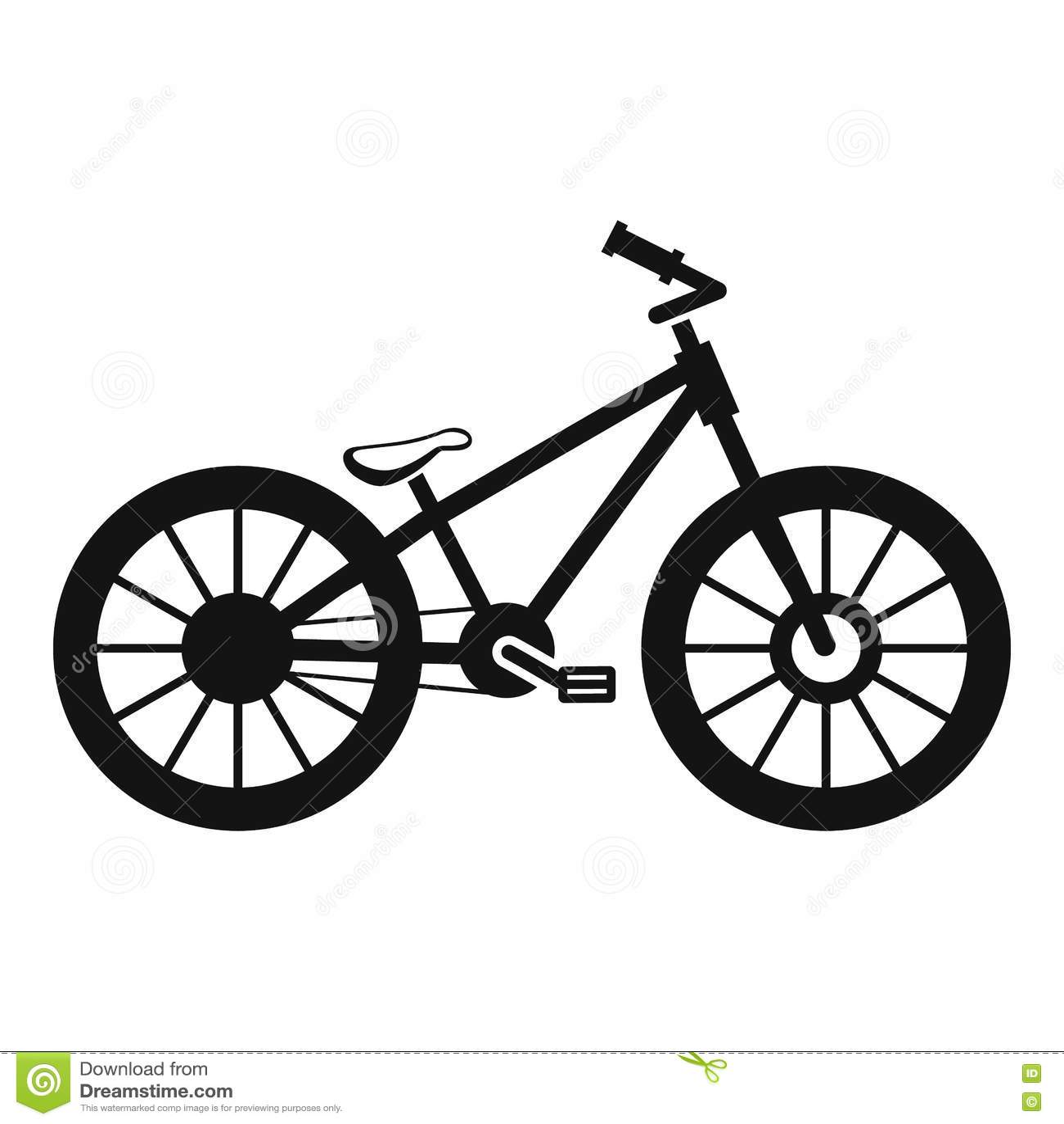Cykelsymbol Enkel Stil Vektor Illustrationer Illustration Av Tecken