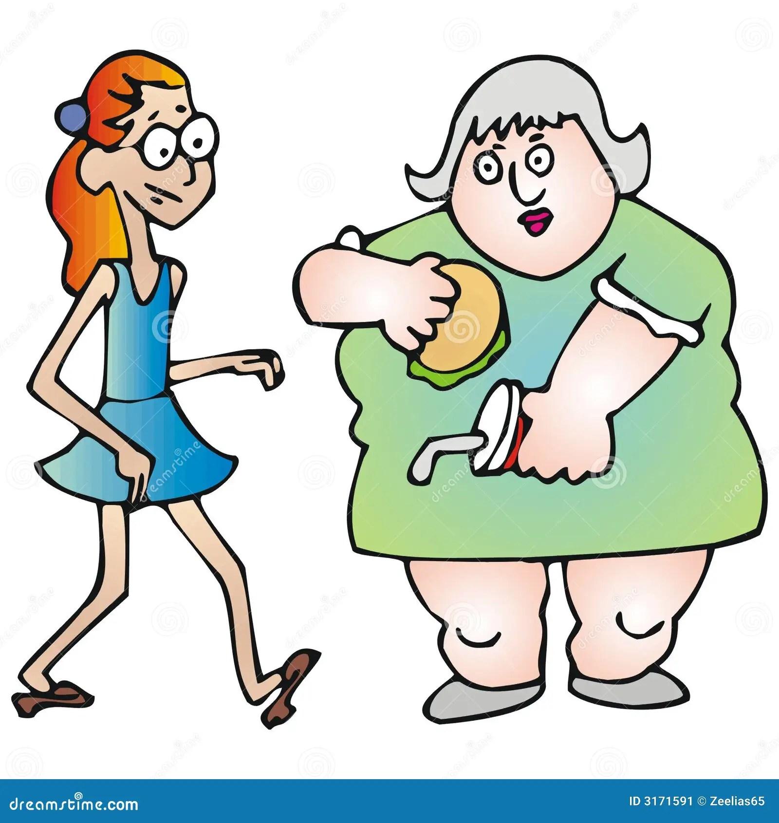Dunn Und Fett Vektor Abbildung Illustration Von Korpulenz