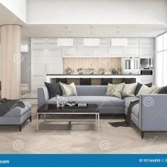 Kitchen Pub Sets Outside Countertops 3d翻译套沙发在厨房酒吧和高凳附近的客厅库存例证 插画包括有现代 任何 3d翻译套沙发在厨房酒吧和高凳附近的客厅