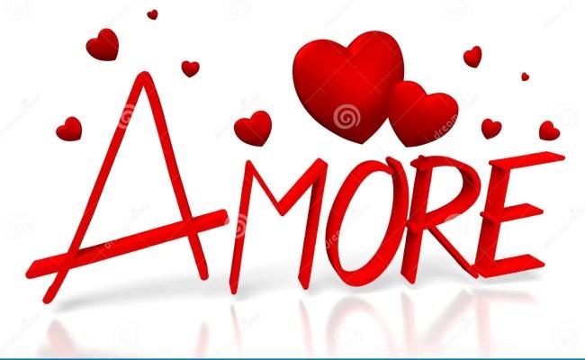 3d Amore Love In Italian Stock Illustration