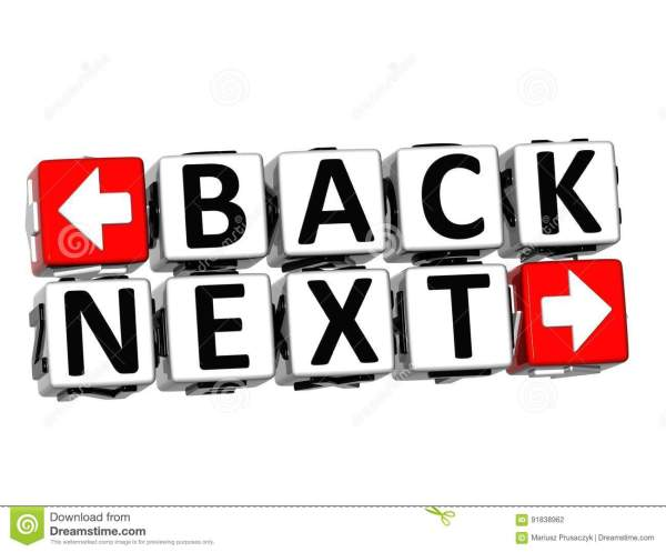 3D Go Back Button Click Here Block Text Stock Image