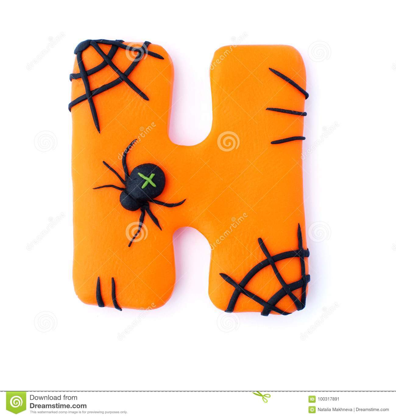 Halloween Letter H Spider Stock Illustration Illustration Of Isolated