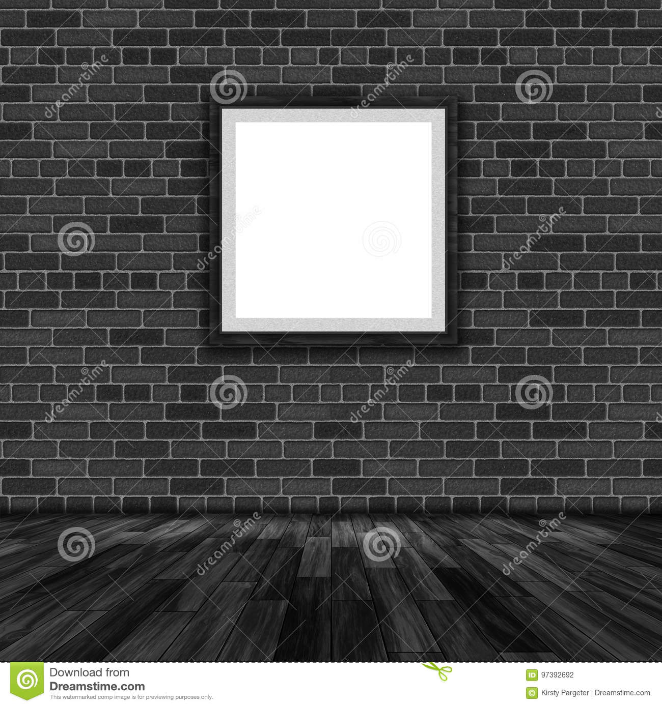 d3a115053ed D Blank Picture Frame Hanging On A Brick Wall Stock Illustration ...