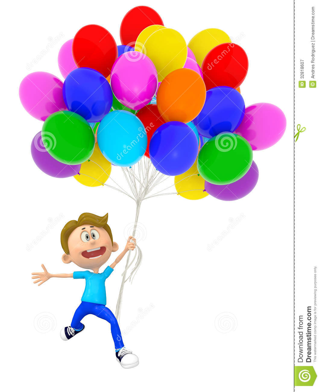 shower wheel chair desk red 3d boy with balloons stock illustration. image of child - 32818607