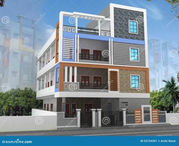 3D Building Elevation Design