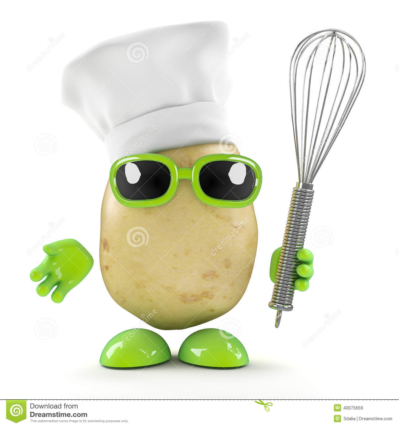 kitchen utensil diy cabinet drawers 3d chef potato with whisk stock illustration. image of ...