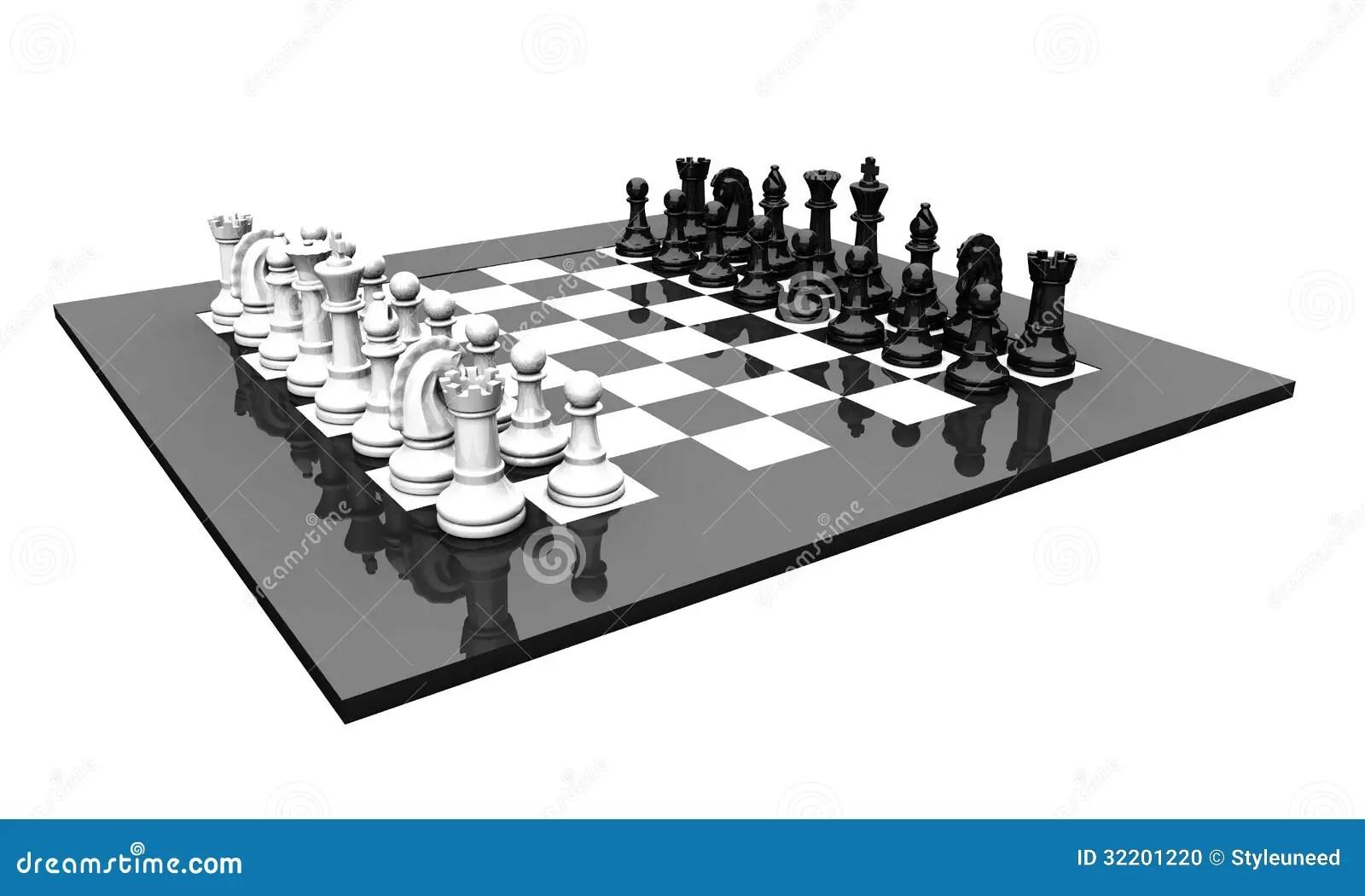 chess board setup diagram 2001 saturn sl1 wiring 3d set stock photo image 32201220