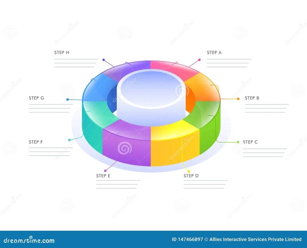 medium resolution of 3d circular infographic diagram for business