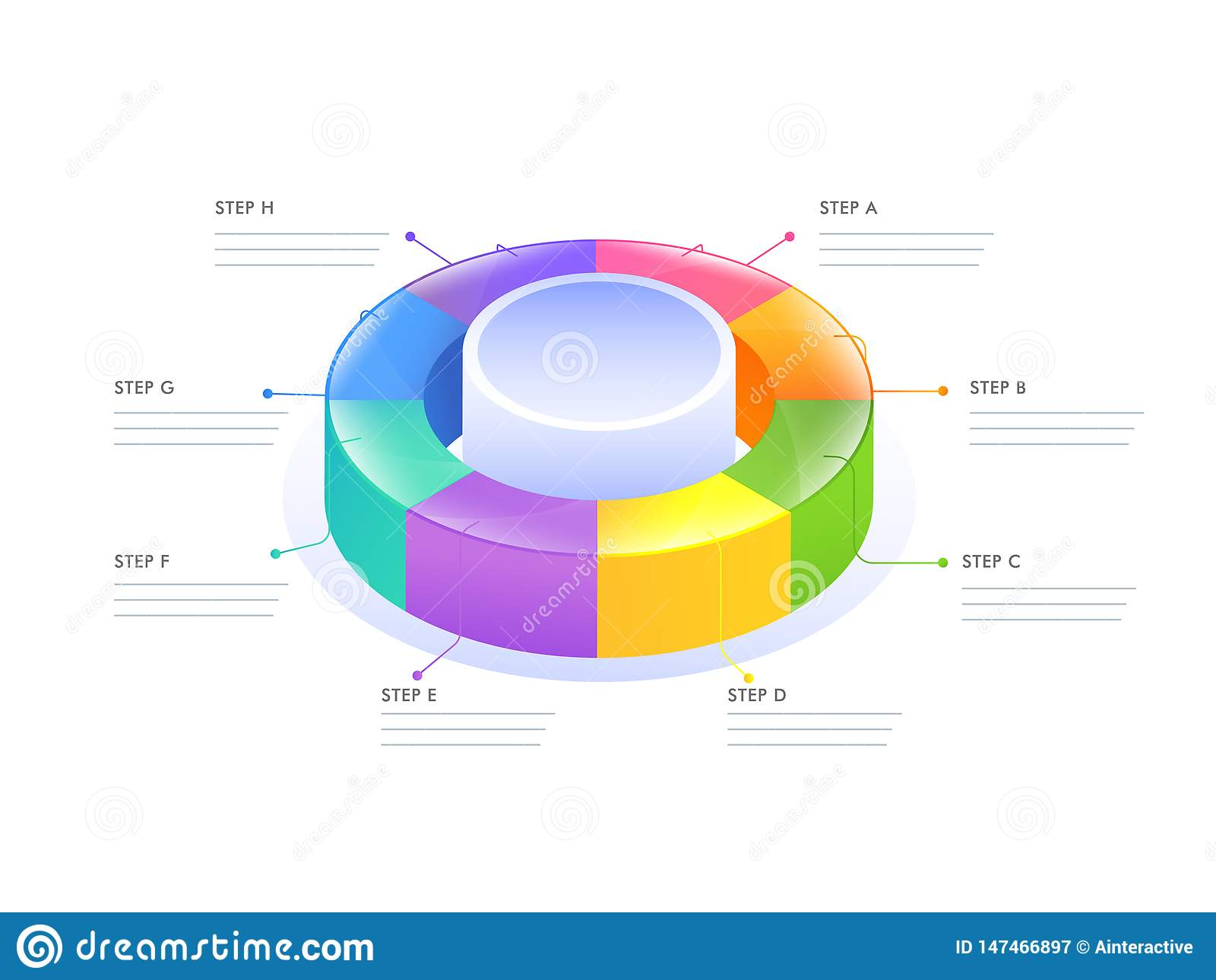 hight resolution of 3d circular infographic diagram for business