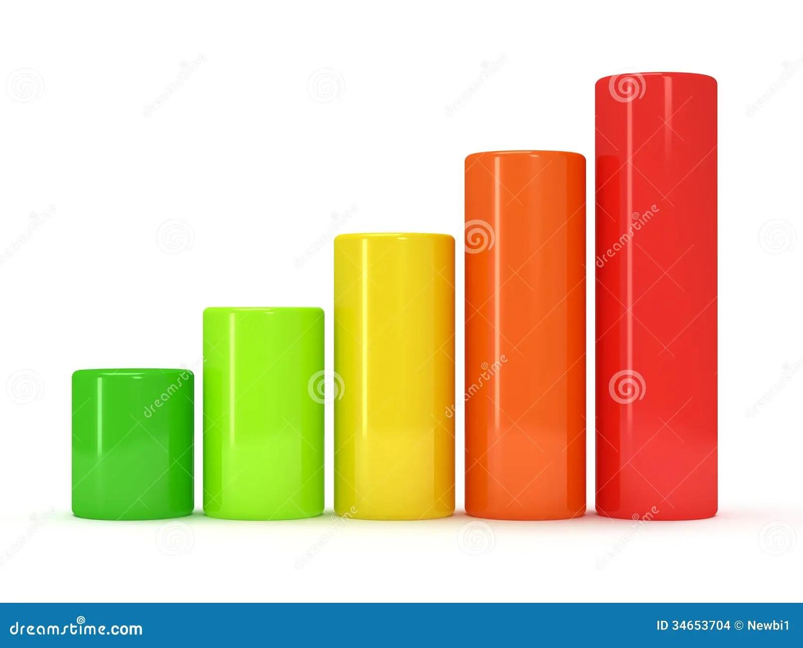 3d colored bar graph