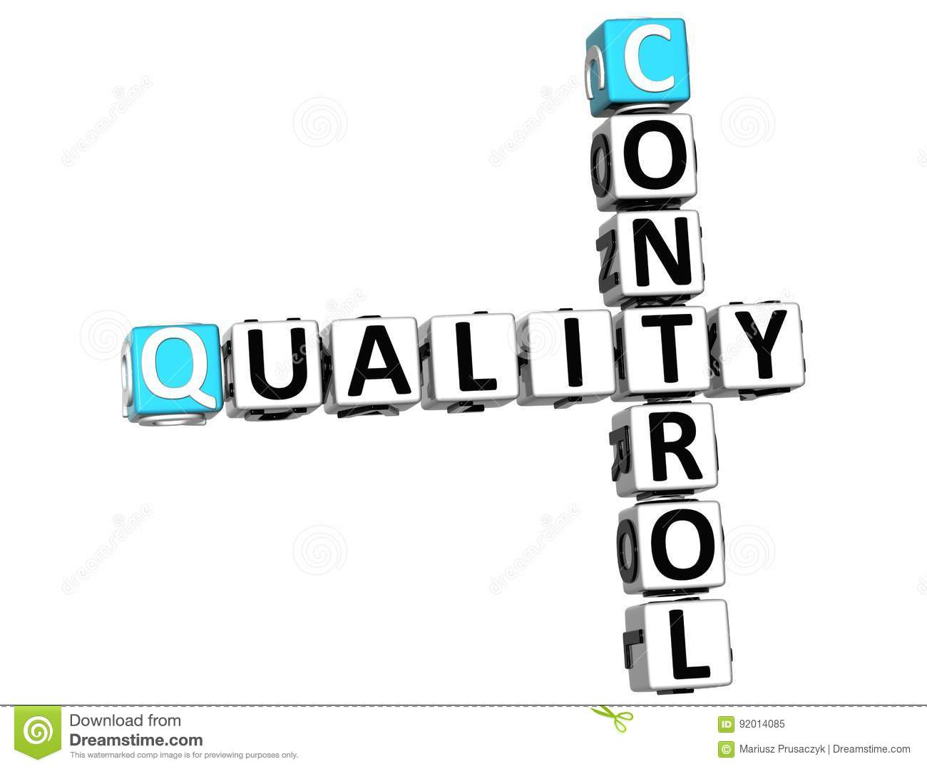 3d Control Quality Text Crossword Royalty Free Stock