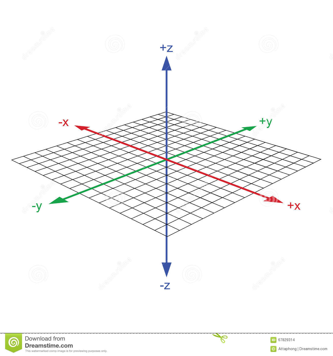 Cartesian Coordinate System Vector Cartoon Vector