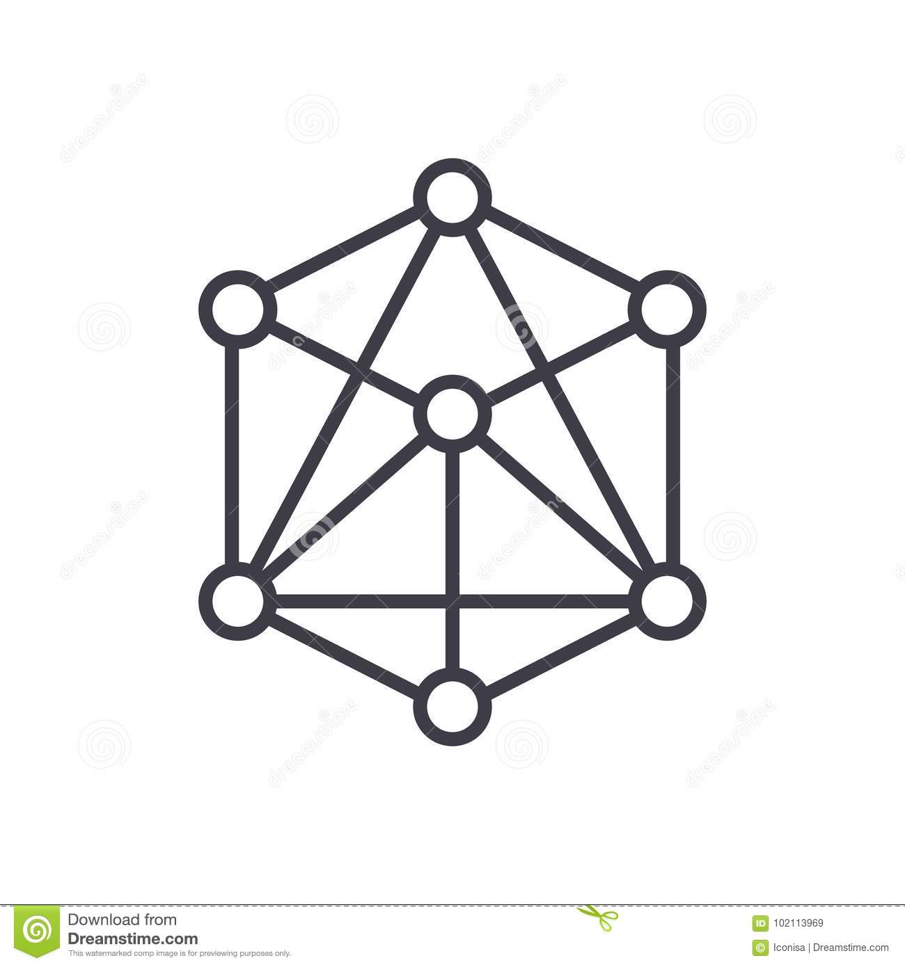 Blue Metal Molecule Structure Royalty Free Stock Image