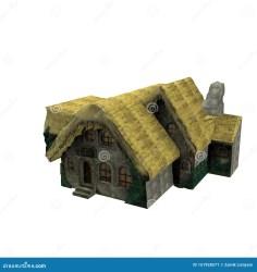 3D Design Of Mini Casa Medieval House Stock Illustration Illustration of white rendering: 151928571