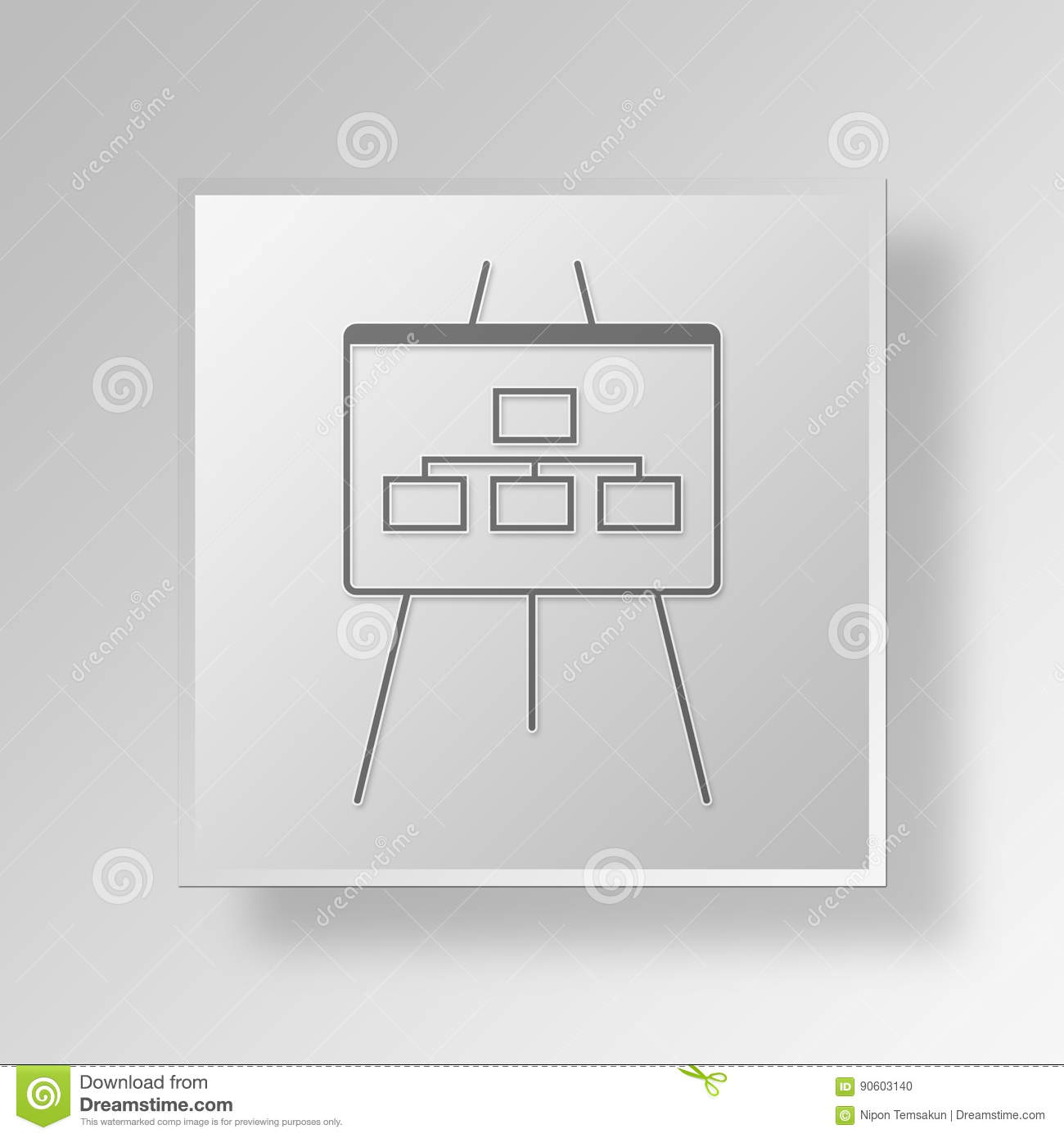 hight resolution of 3d flow chart icon business concept