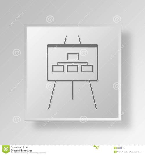 small resolution of 3d flow chart icon business concept