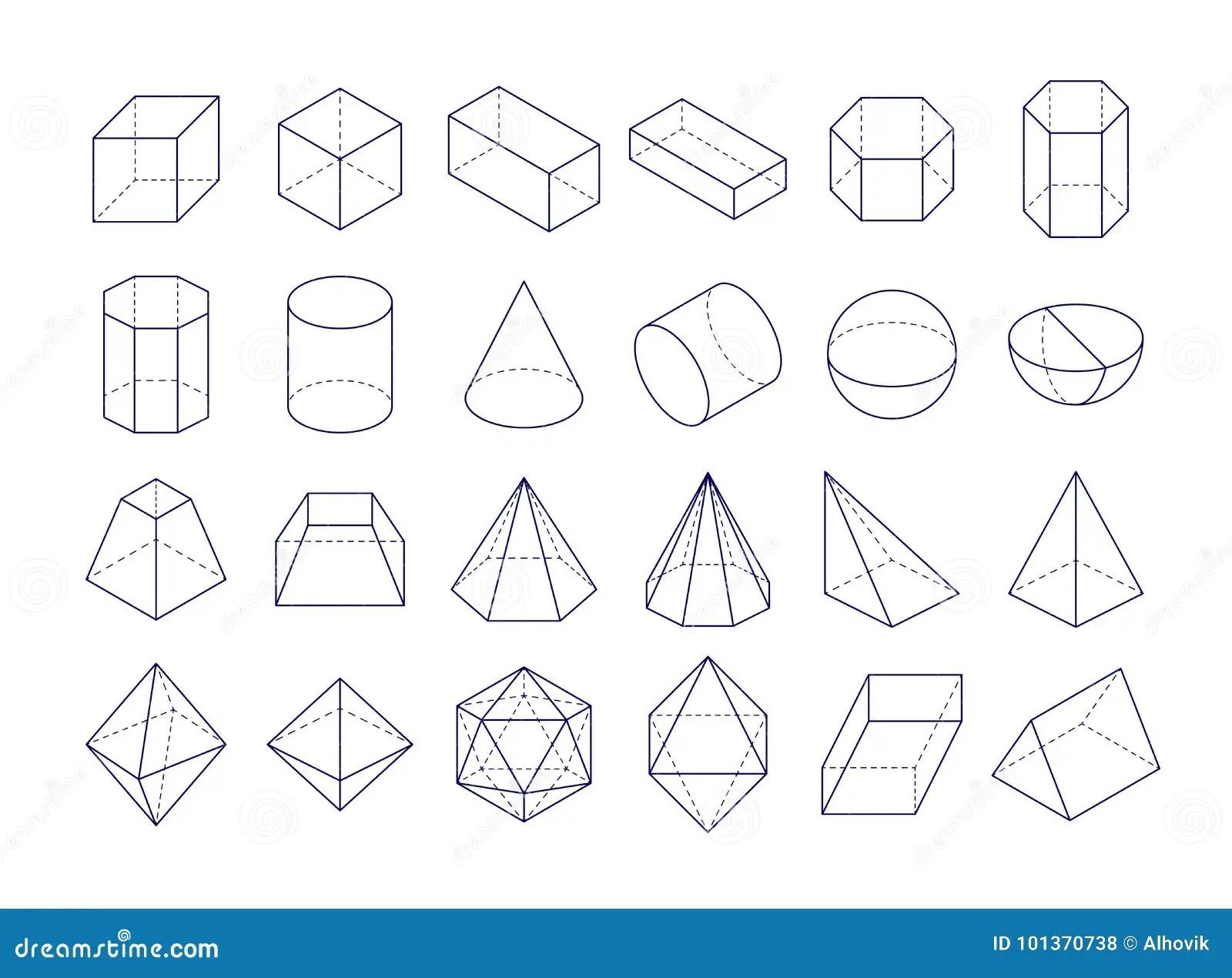 3d Geometric Shapes Stock Vector Illustration Of