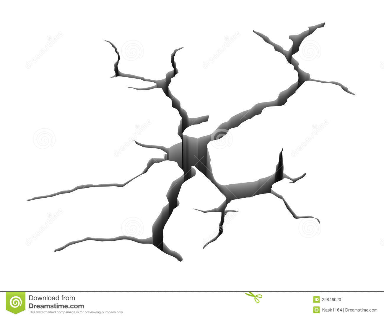 3d Earth Ground Crack Stock Photo