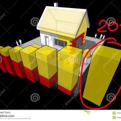 House Insulation Diagram Stihl 039 Chainsaw Parts With Additional And Hand Drawn Note 2018 3d Illustration Of A Detached Wall Roof Over Last Bar Another