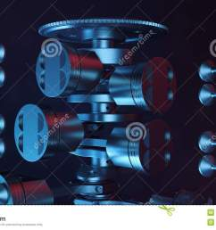3d illustration of an internal combustion engine engine parts crankshaft pistons fuel [ 1300 x 821 Pixel ]