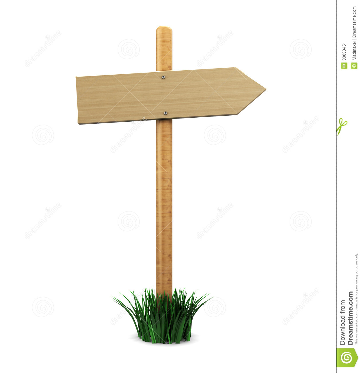 wood direction sign stock