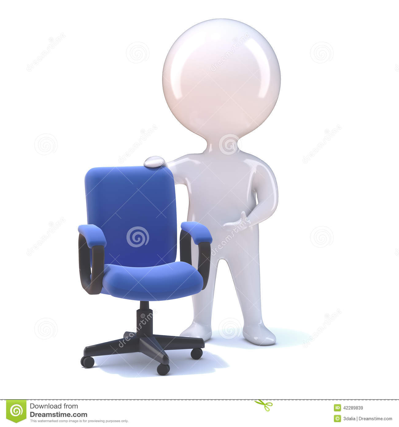 the vacant chair human jungle padded stadium chairs with backs 3d little man an empty office stock
