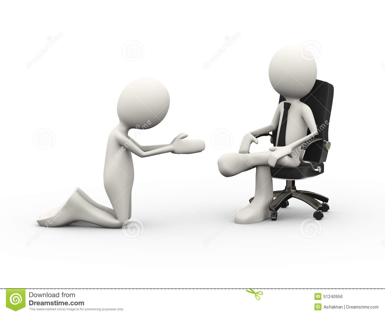 kneeling chair design plans dolphin massage 3d man begging to seated boss on stock illustration - image: 51240956