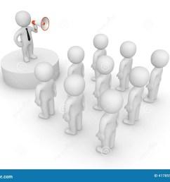 3d man with loudspeaker talking to crowd illustration 41785532 megapixl [ 1300 x 1065 Pixel ]