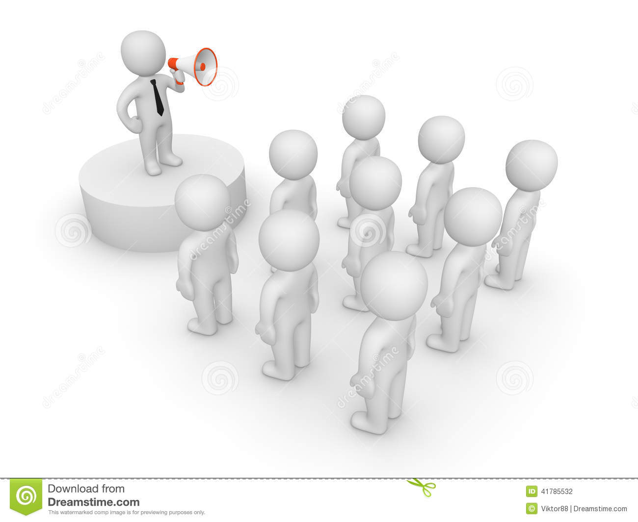 hight resolution of 3d man with loudspeaker talking to crowd illustration 41785532 megapixl