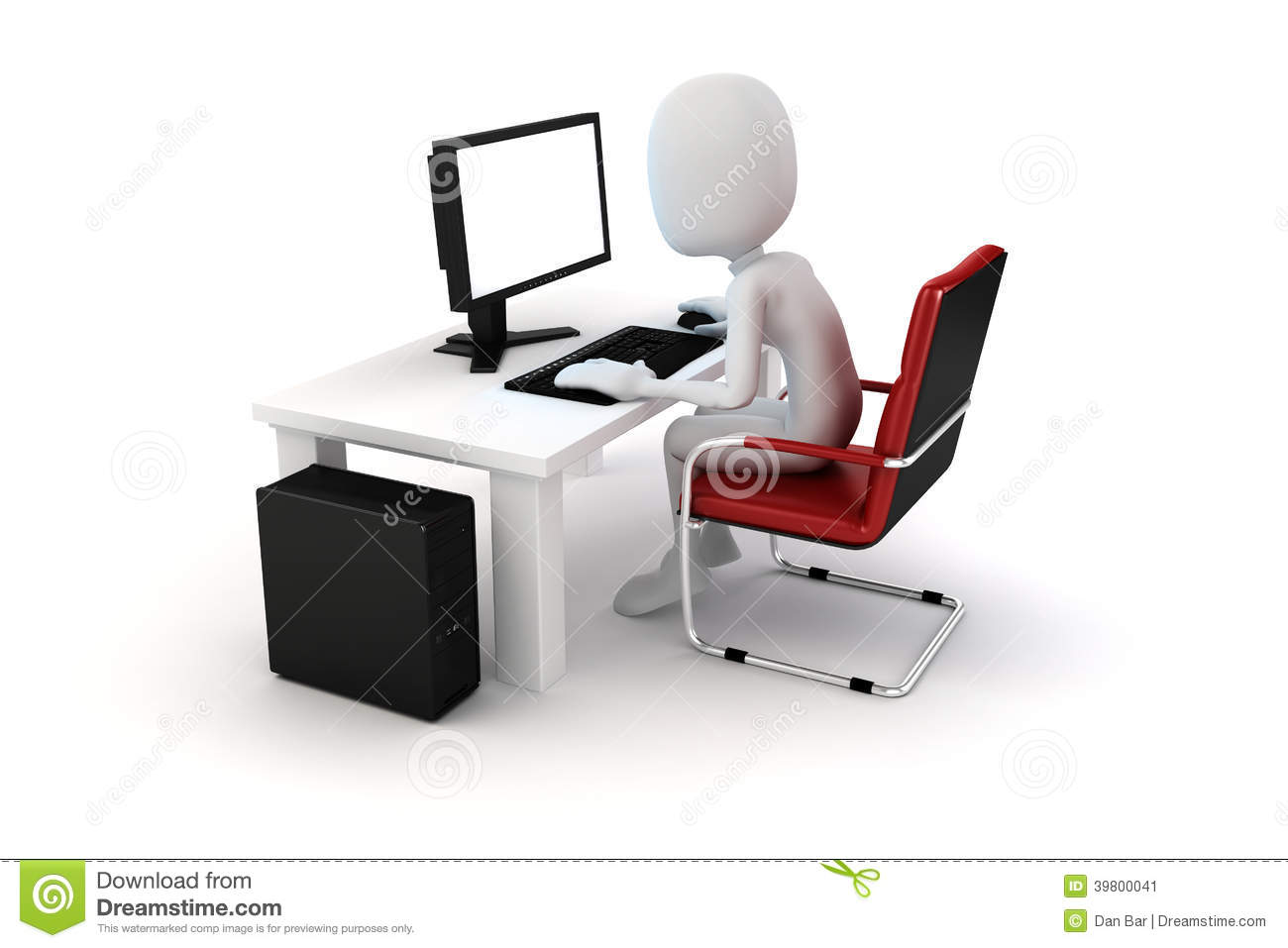 Person Working Computer