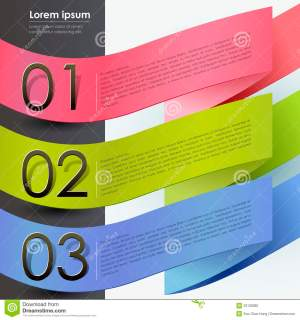 3d Paper Banner Infographics Stock Vector  Image: 33128385