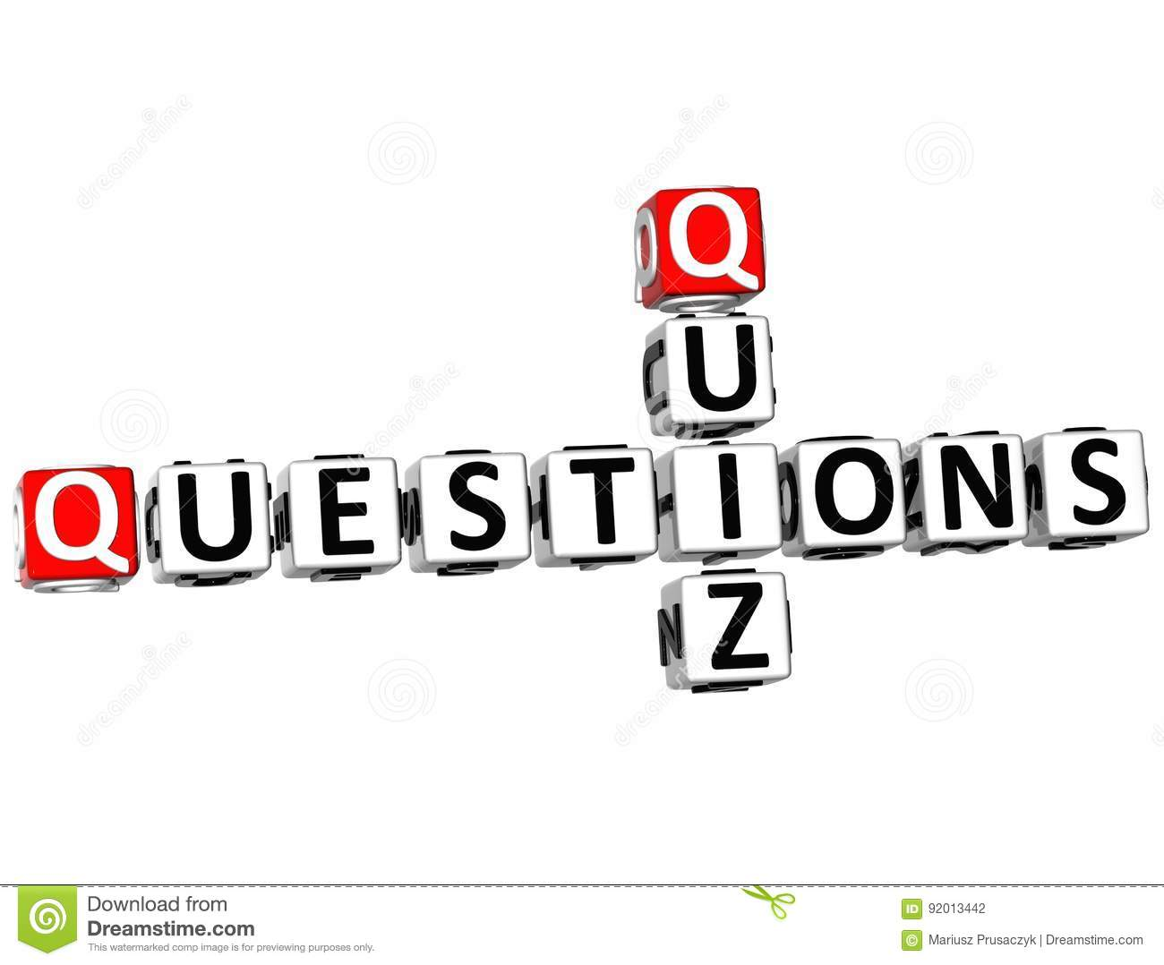 Quiz Question Marks Evaluate Test Knowledge Stock Image