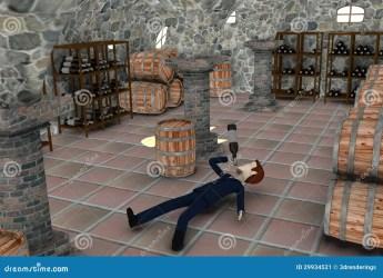 cellar cartoon drunk businessman render 3d wine preview