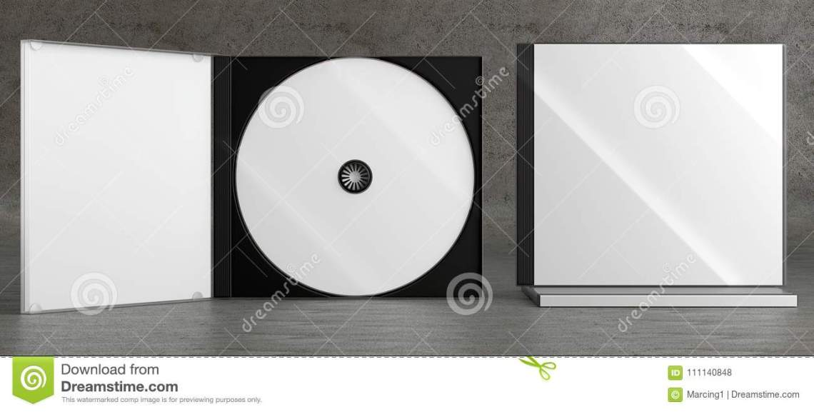 Download CD DVD Disc Plastic Box Mockup. Front View. Stock ...