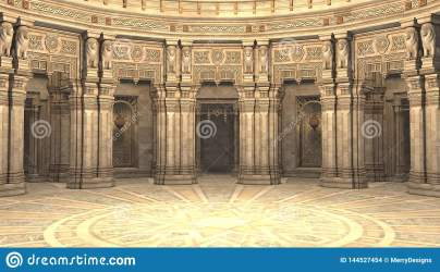 3D Render Of A Fantasy Style Court Throne Room Or Ballroom Stock Illustration Illustration of game style: 144527454