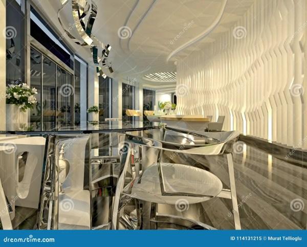 3d Render Of Modern Luxury Hotel Lobby Royalty Free Stock