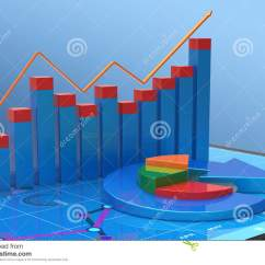 Statistical Analysis Graphs And Diagrams Where Roman Diagram Finance Charts Royalty Free Stock Image