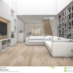 Bookshelf In Living Room Nice Colors To Paint A 3d Rendering With Sofa And Tv Some Interior Exterior Design