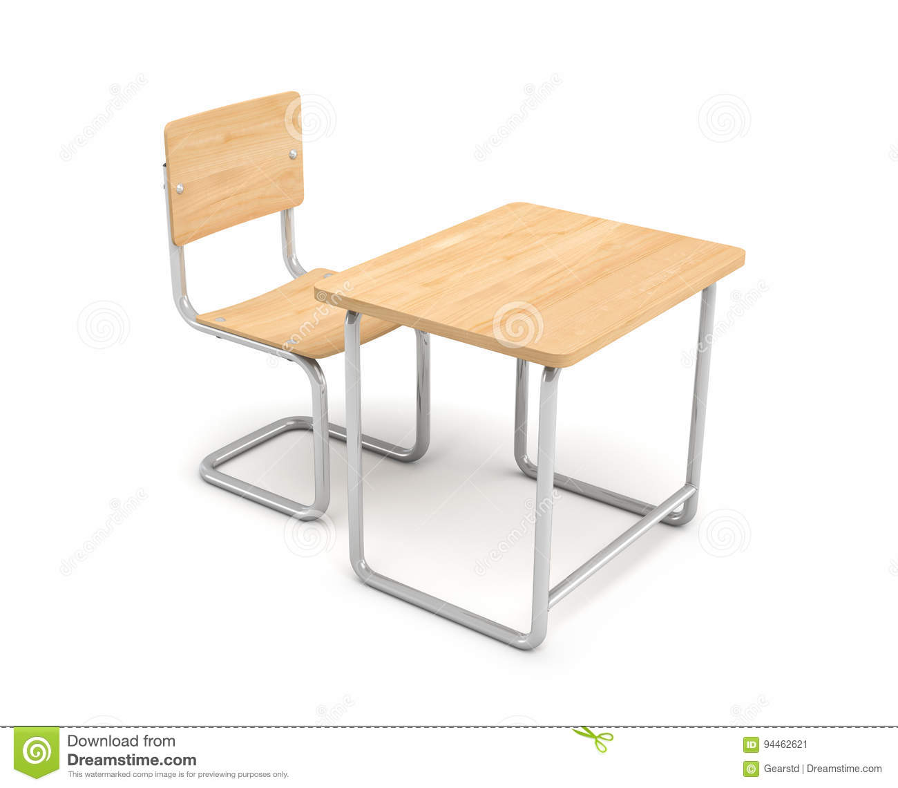 desk chair made rental orlando 3d rendering of a school and both are iron light wood