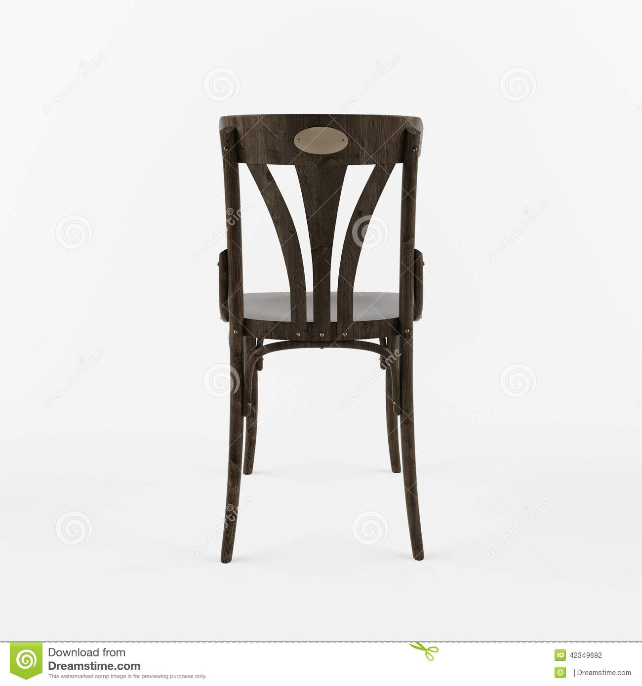 retro white chair double canopy 3 d back view stock illustration image of