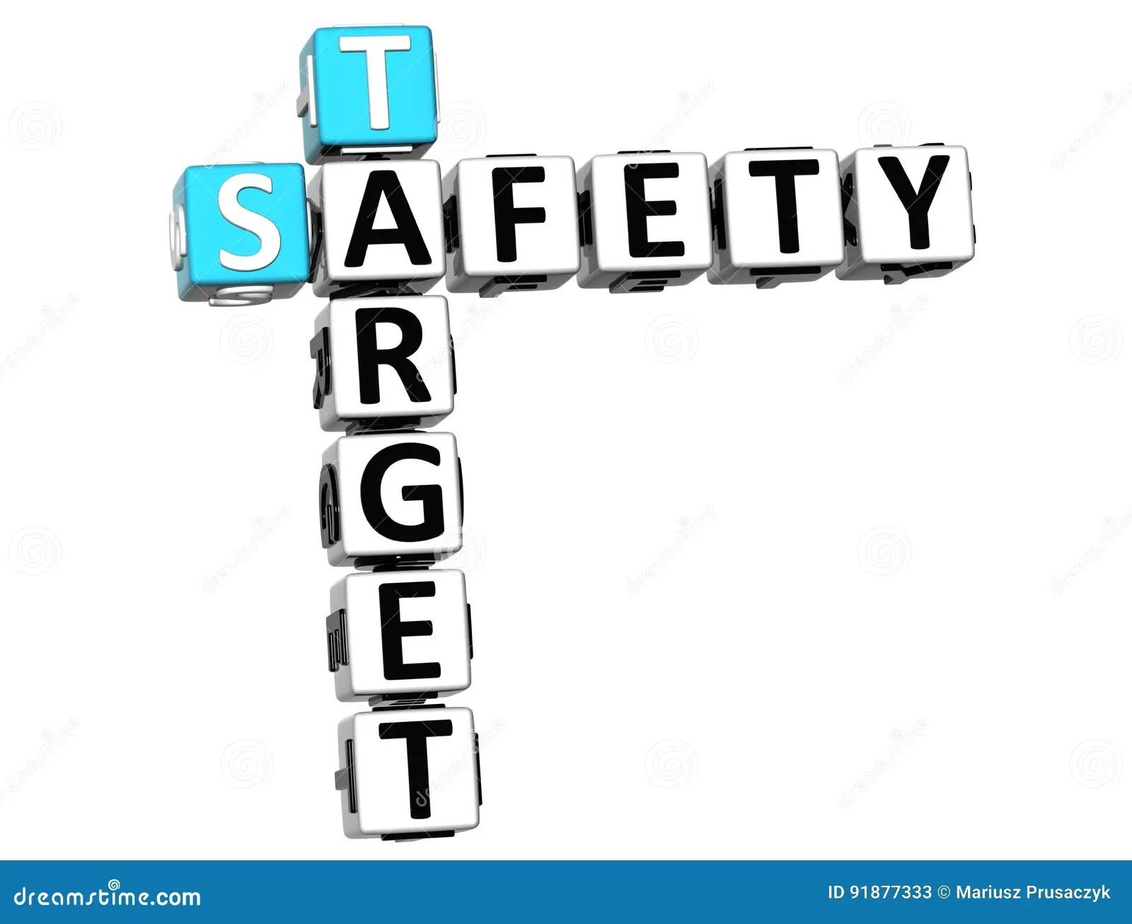 3D Safety Target Crossword stock illustration