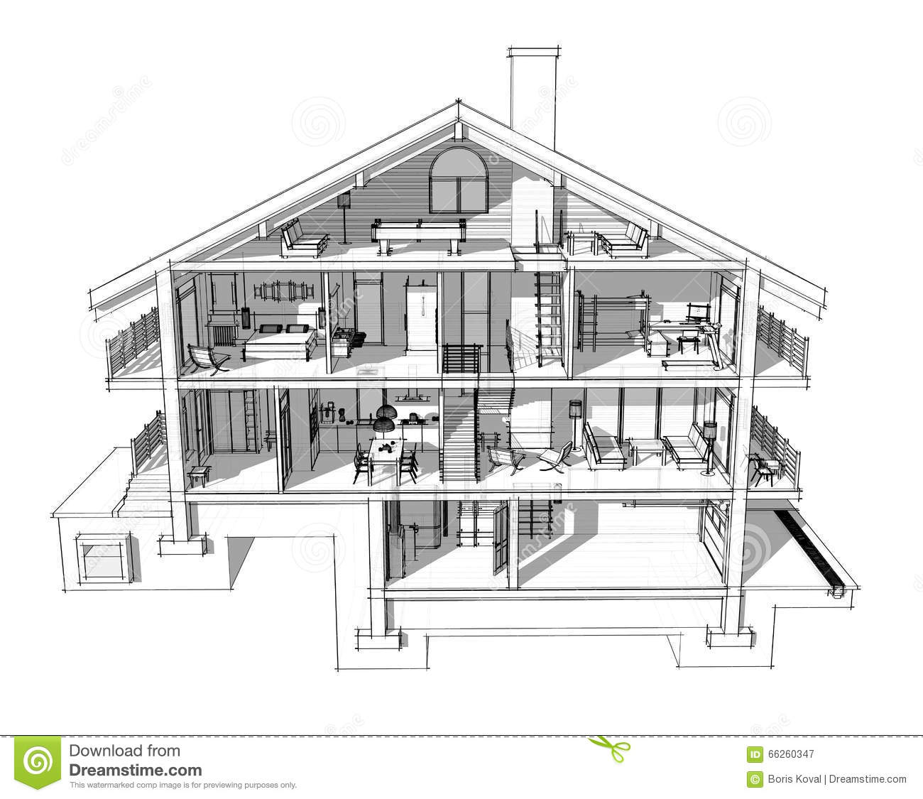 Engineering Heating. Concept Heating. Project Of Heating