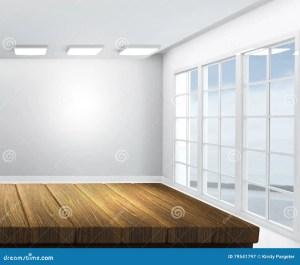 empty wooden lounge wood