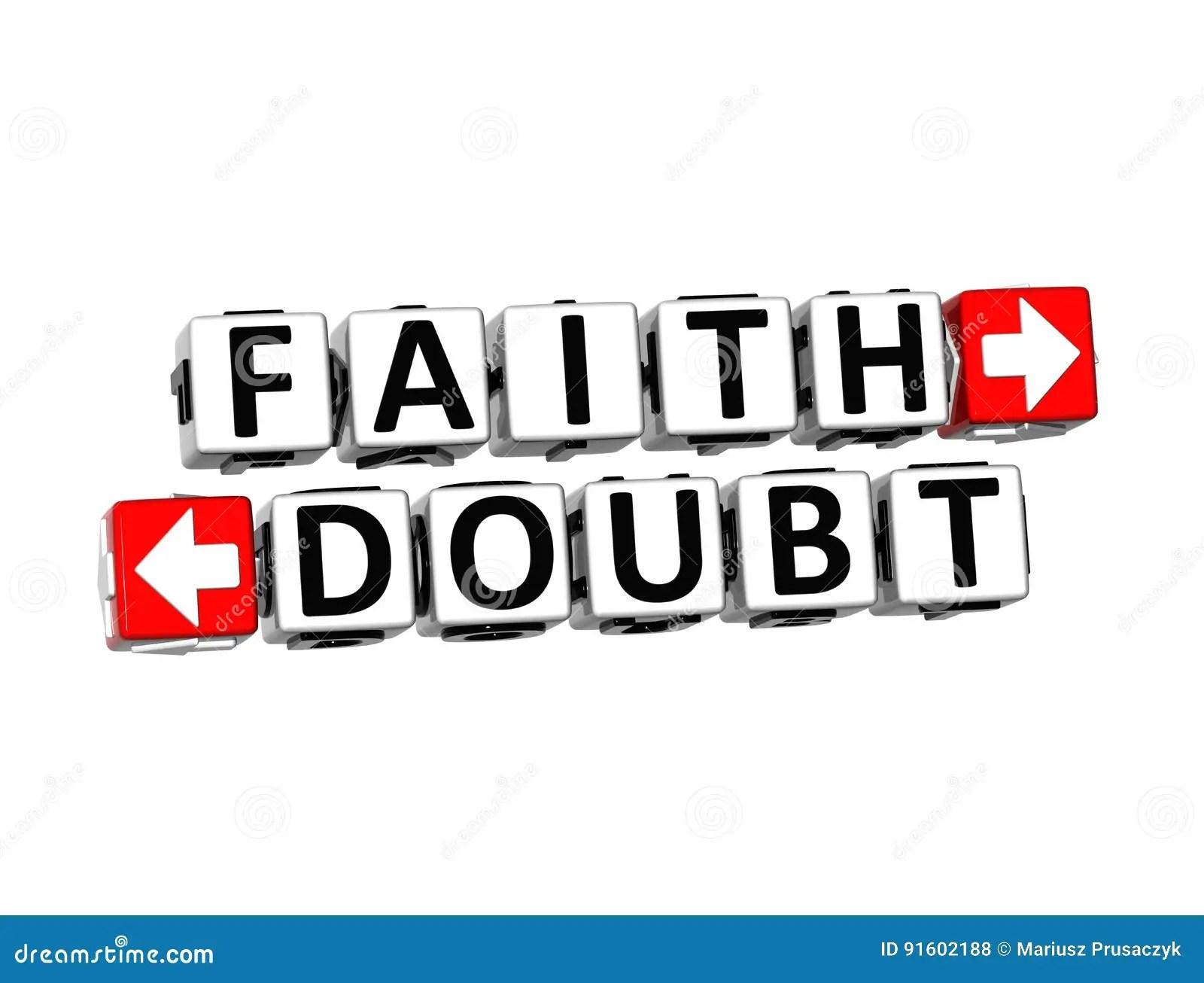 Faith Versus Doubt Religion Or Confidence Concept Stock